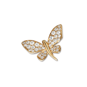 Gold Diamond Butterfly Pin