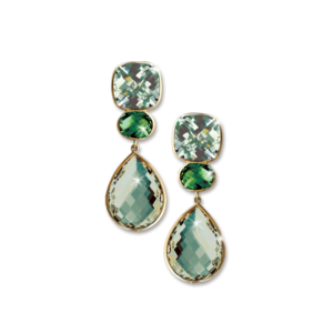 Mint Pendant Earrings