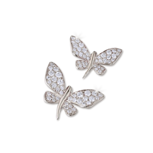 White Gold Diamond Butterfly pins