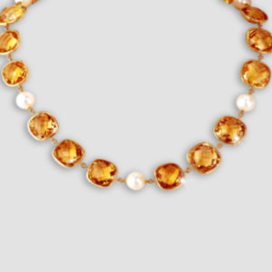 Topaz & pearl necklace