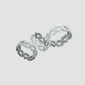 diamond heart cutout rings