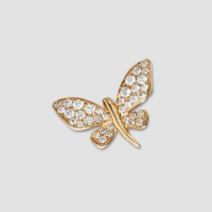 Yellow gold butterfly brooch
