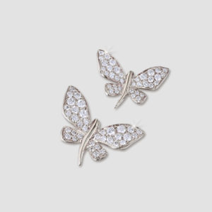 white gold butterfly brooches