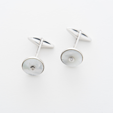 Mother-of-Pearl & Diamond Cufflinks