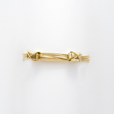 Yellow Gold Elephant Hair Bangle