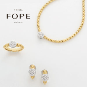 18ct Yellow & White Gold Diamond FOPE Ring, Earrings & Necklace