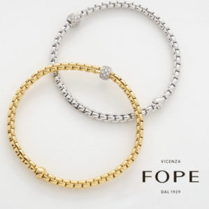 FOPE Flex-it White and Yellow Gold bracelets