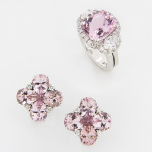 Morganite and Diamonds