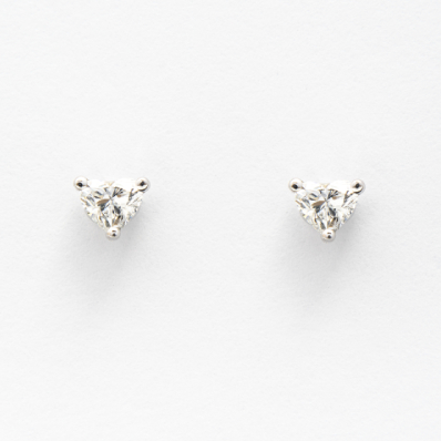 Heart-Cut Stud Earrings