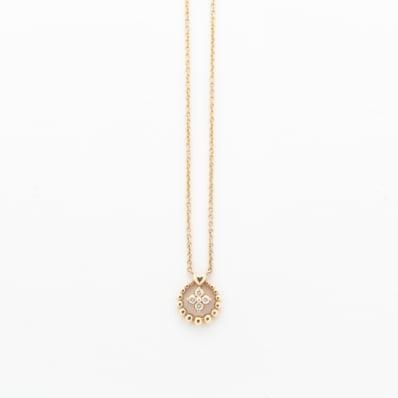 Diamond Pendant on Anchor Chain