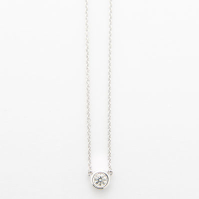 Solitaire Necklace on Anchor Chain