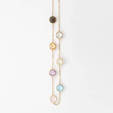 Gemstone Spectacle-Set Necklace