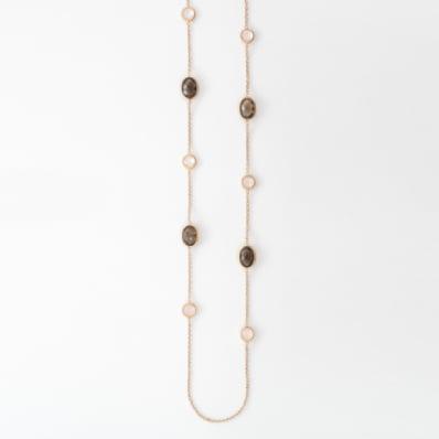 Smoky Topaz & Rose Quartz Necklace