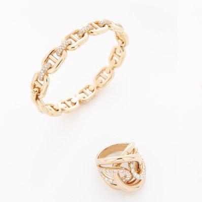 Rose Gold Diamond Bracelet & Ring