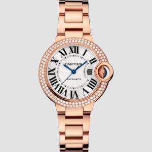 Cartier Ballon Bleu 33mm Rose Gold & Diamonds