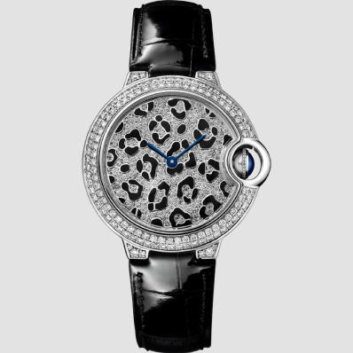 Cartier Ballon Bleu 33mm Panther spots