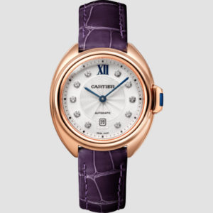 Cle de Cartier Rose gold, diamonds and leather