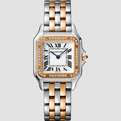 Cartier Panthere Medium Quartz Pink Gold & Steel