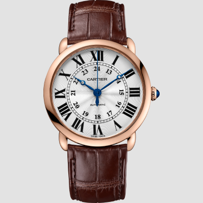 Cartier Ronde Louis Cartier 36mm Rose Golf & Leather