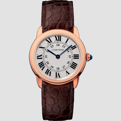 Cartier Rondo Solo 29mm Rose Gold, Steel & Leather