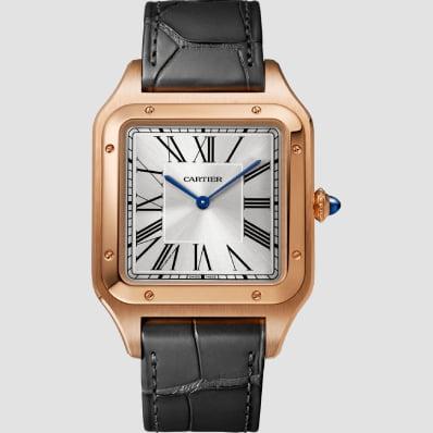 Cartier Santos Dumont XL Rose Gold & Leather