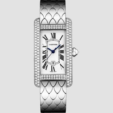 Cartier Tank American Medium white gold and diamonds