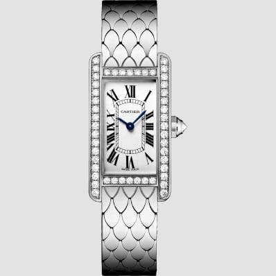 Cartier Tank American Small White Gold & Diamonds