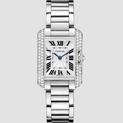 Cartier Tank Anglasie White Gold & Diamonds