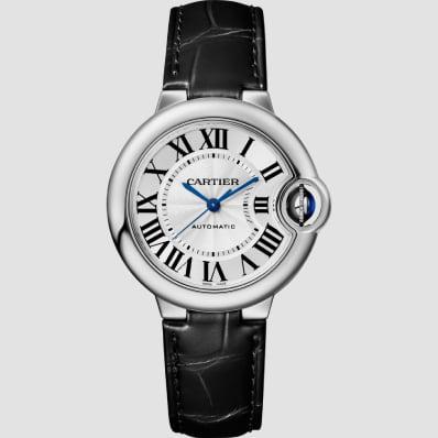 Cartier Ballon Bleu 33mm Steel & Leather