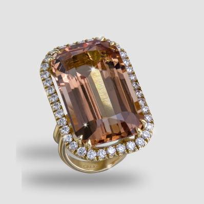 Madagascan Morganite & DiamondRing