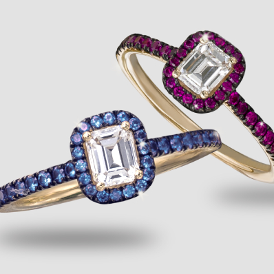 Diamond Sapphire & Ruby Rings